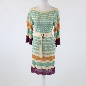 Missoni ivory sleeve sweater dress 4